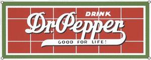DR. PEPPER PORCELAIN COATED SIGN