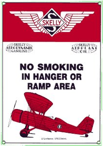 SKELLY HANGER PORCELAIN COATED SIGN