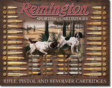 REMINGTON BULLET BOARD METAL SIGN