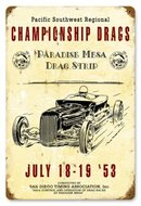 PARIDISE MESA DRAG STRIP TIN SIGN 24 GAUGE