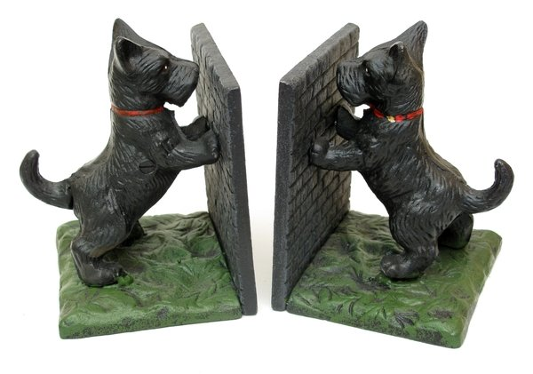SCOTTIE BOOKENDS VERY HEAVY CAST IRON