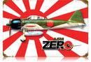 JAPANESE ZERO FIGHTER AIRCRAFT HEAVY METAL SIGN
