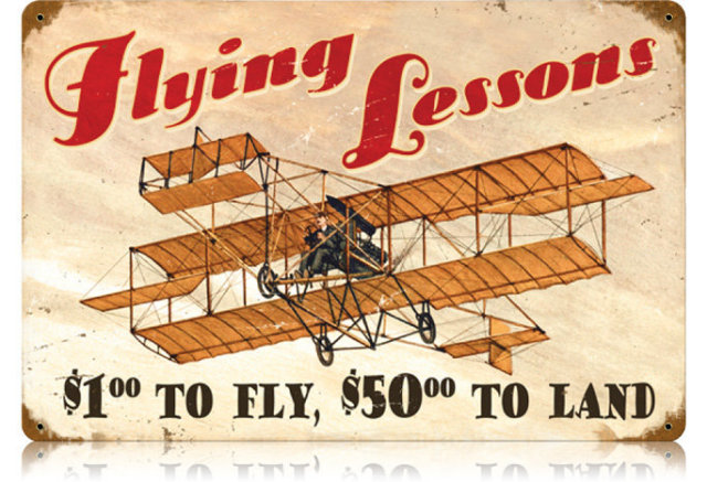 FLYING LESSONS HEAVY METAL SIGN