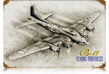 B-17 FLYING FORTRESS HEAVY METAL SIGN