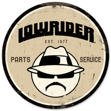 LOWRIDER PARTS SERVICE METAL SIGN 24 GAUGE