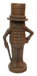MR PEANUT MAN BANK CAST IRON