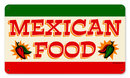 Mexican Food colorful restaurant/ cantina/ metal sign