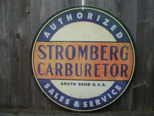 STROMBERG CARBURETOR SALES SERVICE Heavy Metal Sign