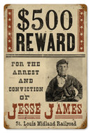 JESSE JAMES OUTLAW HEAVY METAL SIGN