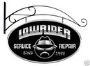 LOW RIDER SERVICE LARGE OVAL METAL SIGN w/HANGER