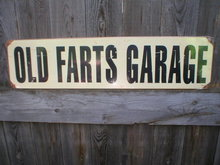 OLD FARTS GARAGE HEAVY METAL SIGN