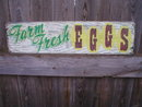 FARM FRESH EGGS HEAVY METAL SIGN