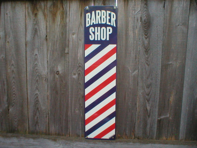 BARBER SHOP HEAVY METAL SIGN