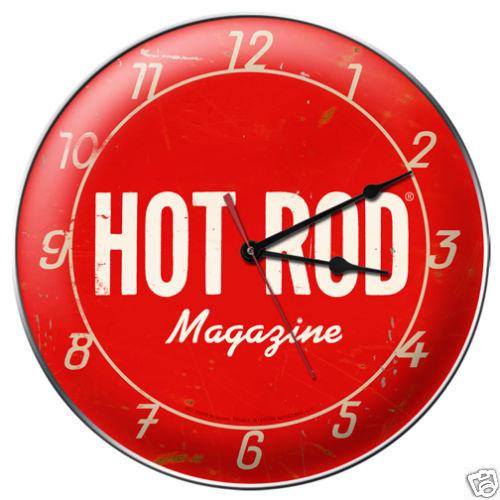 HOT ROD MAGAZINE  METAL CLOCK