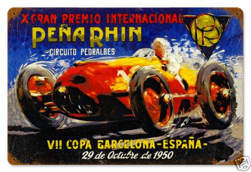 Pena Rhin Grand Prix 1950 HEAVY METAL SIGN