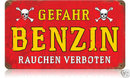 Danger Gasoline German military WWII HEAVY METAL SIGN