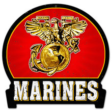 MARINES USMC INSIGNIA HEAVY METAL SIGN