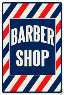 Barber Shop RETRO SIGN HEAVY METAL