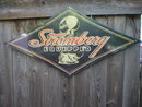 STROMBERG EQUIPPED DIAMOND SHAPED HEAVY METAL SIGN