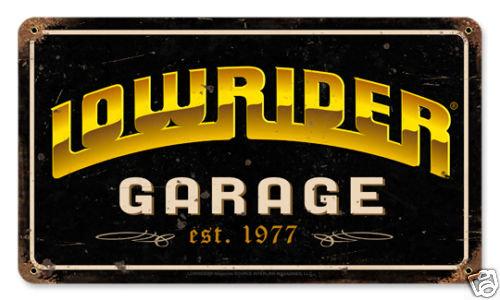 Lowrider Garage est.1977 Heavy Metal Sign