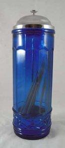 Cobalt Blue Strawholder METAL LID