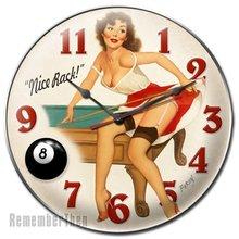 Pin Up Girl Billiards Clock NICE RACK