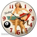 Pin Up Girl Billiards Clock NICE RACK