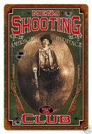 Men's Shooting Club Billy the Kid HEAVY METAL SIGN
