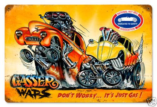 NHRA Gasser Wars Racing heavy metal sign