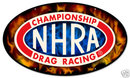 NHRA oval shaped drag racing Heavy Metal Sign