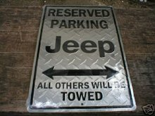 JEEP PARKING TIN SIGN