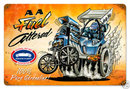 NHRA Fuel Altered Dragster Heavy Metal Sign