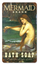 Mermaid Bath Soap heavy metal sign Colorful