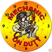Mechanic on Duty  SHOP GARAGE Clock