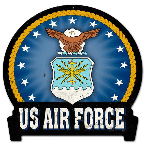 USAF insignia HEAVY METAL SIGN