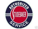 STUDEBAKER AUTHORIZED SERVICE Porcelain Coated Sign