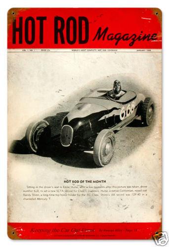 Hot Rod Magazine Premier January 1948 HEAVY METAL SIGN