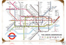 London Underground map HEAVY METAL SIGN old look