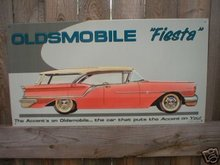 OLDSMOBILE FIESTA STATION WAGON Long Tin Sign