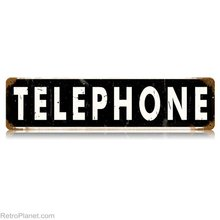 Telephone long HEAVY METAL SIGN