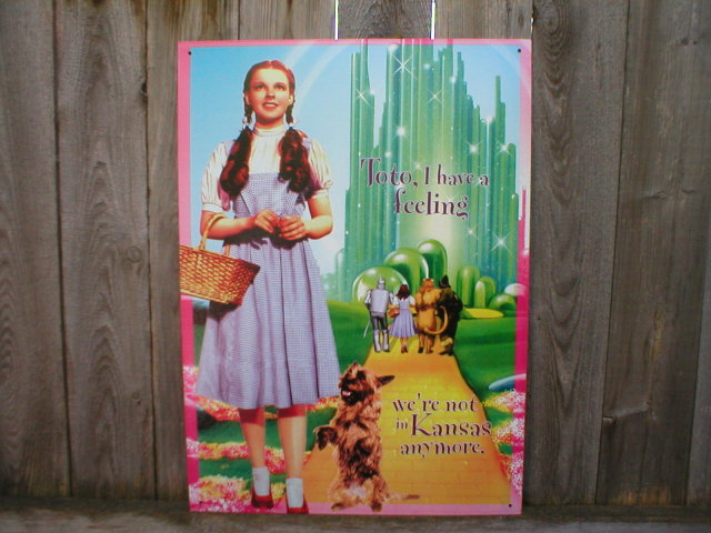 Wizard of Oz Dorothy Toto Tin Sign