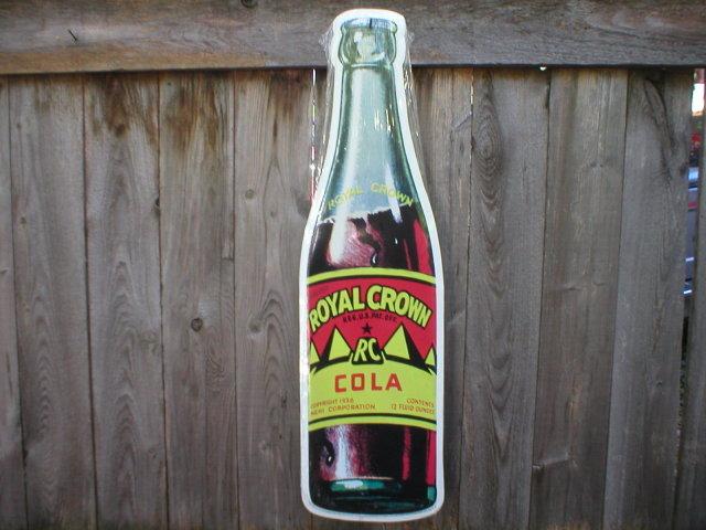 Royal Crown Die Cut Bottle METAL SIGN