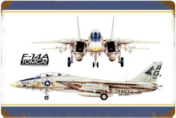 F-14A Tomcat Heavy Metal Airplane Sign