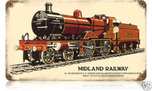 Midland Railway railroad Heavy Metal Sign