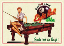 Eight Ball Ale METAL SIGN
