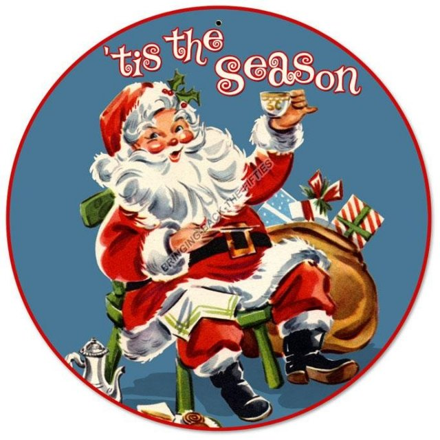 Tis The Season Christmas Heavy Metal Sign
