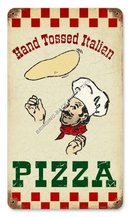 HAND TOSSED PIZZA Heavy Metal Sign