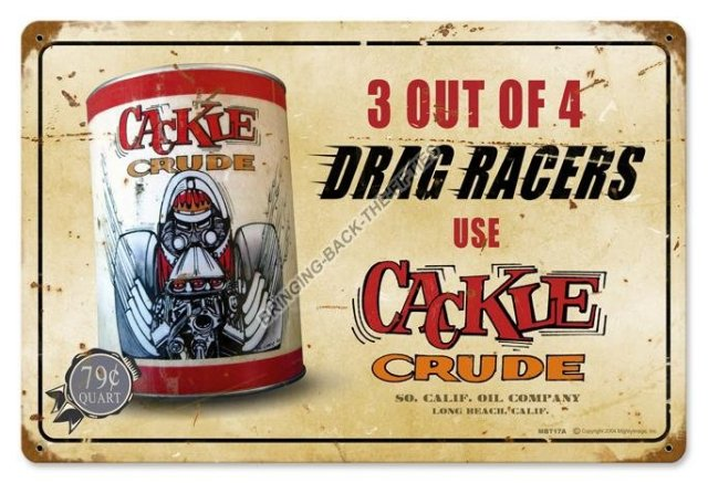 Cackle Crude Heavy Metal Sign