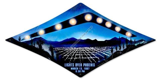Lights Over Phoenix Heavy Metal Sign