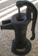 Cast Iron Black Cistern Pump yard decor